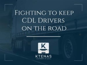 Fighting to keep CDL drivers on the road