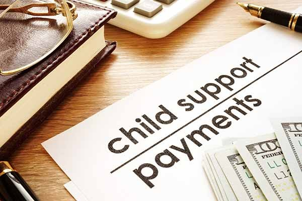 child support is being spent